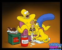Food sex fantasy of Homer Simpson
