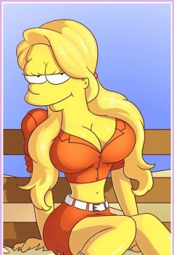 Adult girl from the Simpsons - nude comics