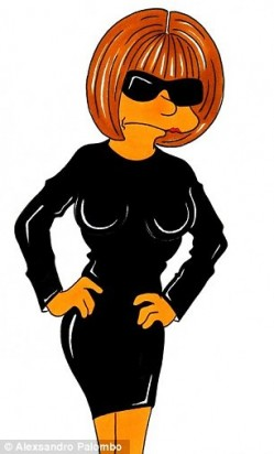 Marge Simpson like American Vogue editor Anna Wintour