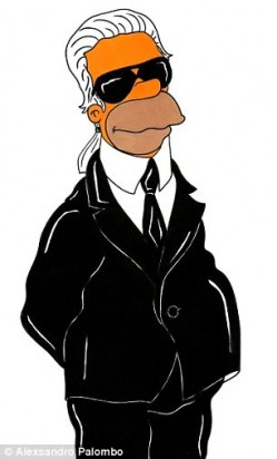 Homer Simpson like Karl Lagerfeld