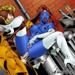 Sexy Storm with sex toy * Porn Comics Superheroes Sex X-Men