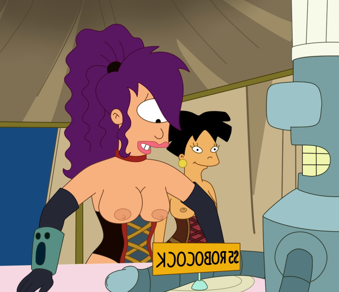 Was Leela amy futurama naked speaking, did