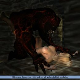 Blonde fucked by monsters - 3D Sex Cartoons
